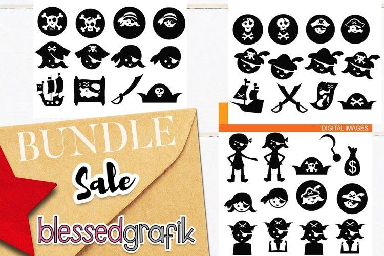 Pirate clip art illustrations bundle example image 1