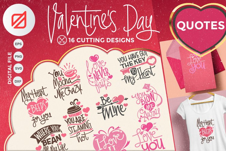 Valentines Day Quotes Collection Cutting File