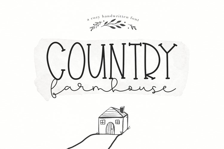 Country Farmhouse - A Handwritten Script & Serif Duo example image 1