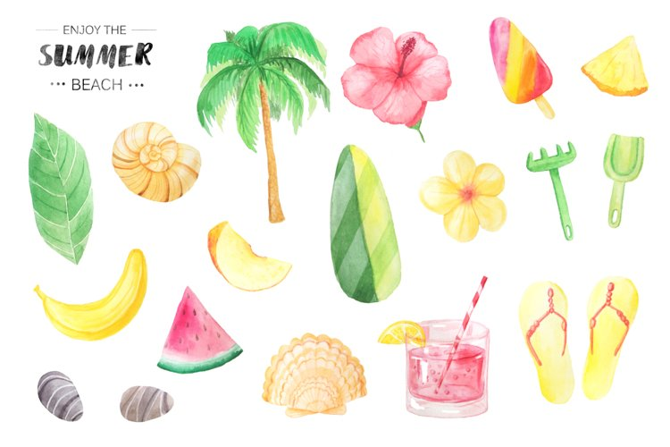 Watercolor Beach Set example 1