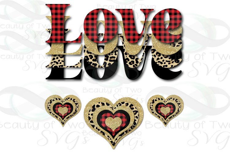 Valentine Sublimation png Love Plaid Cheetah Hearts Retro example image 1