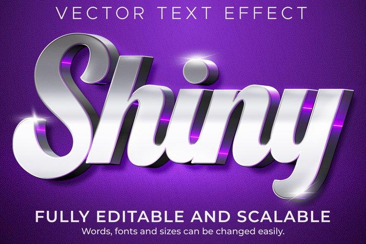 Metallic shiny text effect, editable luxury and elegant text example image 1