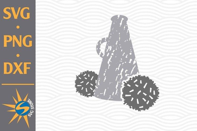Distressed Megaphone SVG, PNG, DXF Digital Files Include