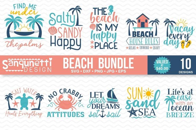 Beach and Summer SVG Bundle - 10 designs