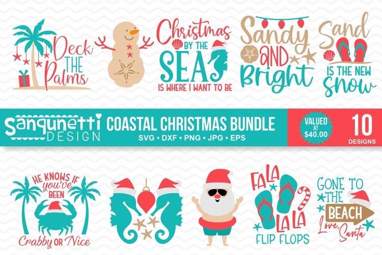 Coastal and Beach Christmas SVG Bundle - 10 designs