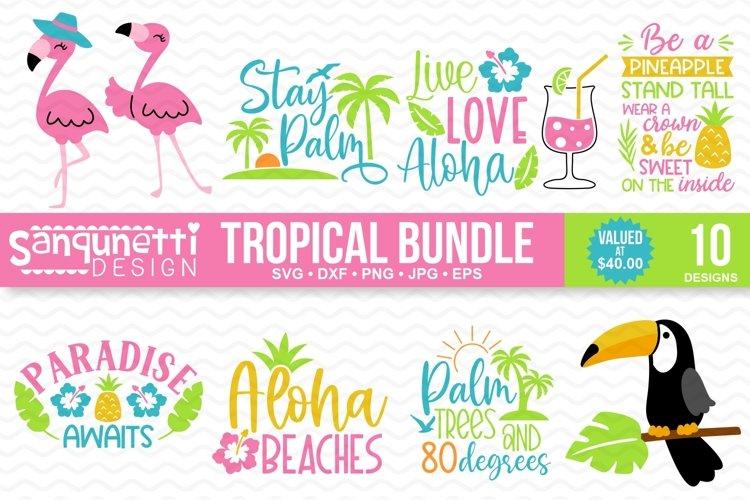 Tropical Summer SVG Bundle - 10 designs