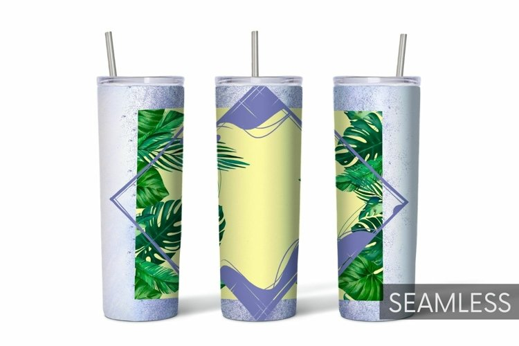 Palm Leaf Tumbler Sublimation | 20 oz | Taper | Straight