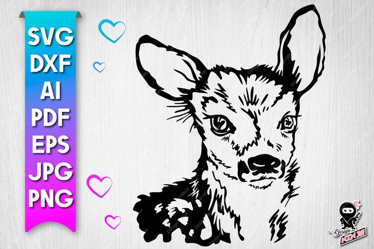 Baby Deer Roe SVG cut file