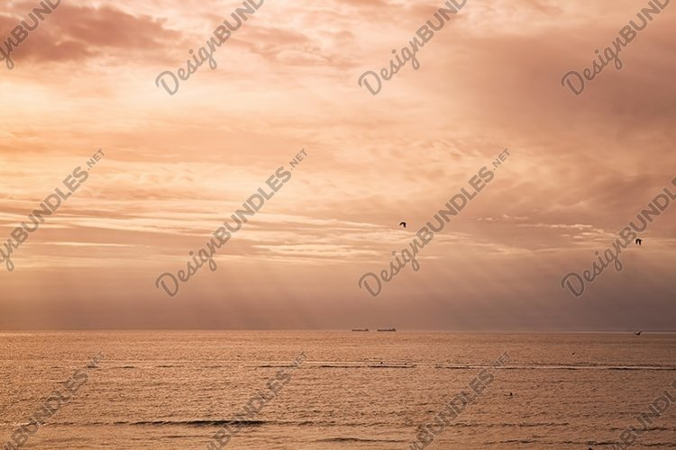 sunset on the sea example image 1