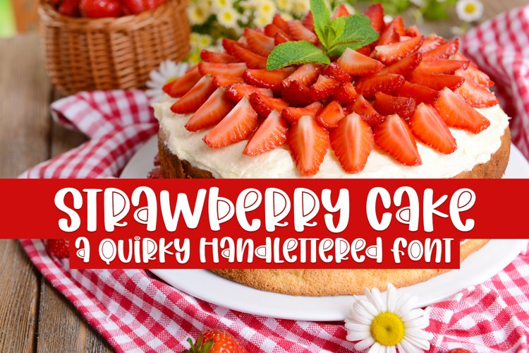 Strawberry Cake - A Quirky Handlettered Font example image 1