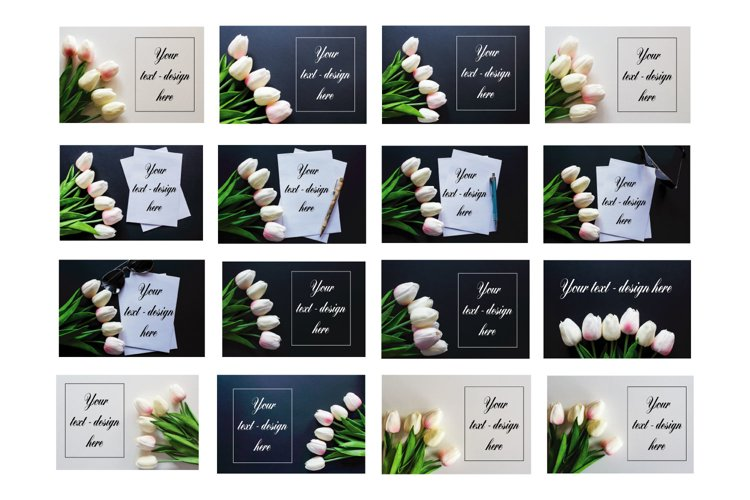 Flowers Card Mockup Styled Stock Photography Stock photo