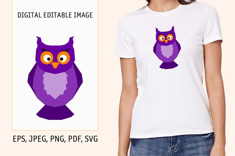 Cartoon halloween owl print. Digital editable pattern example image 1