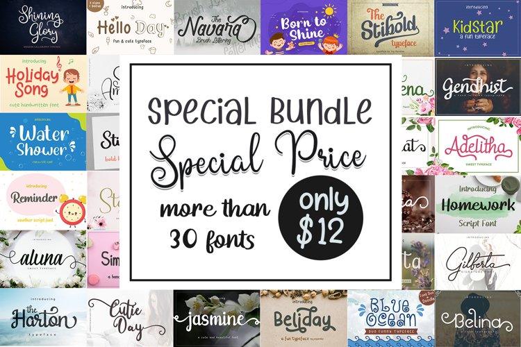 Special Font Bundle Collections example image 1