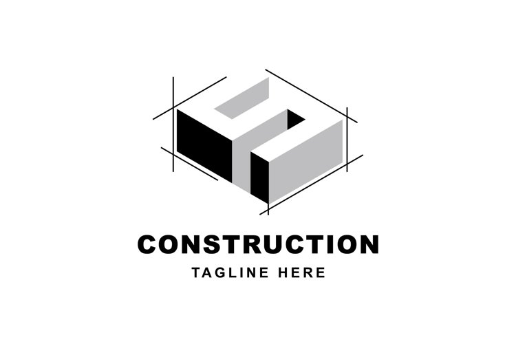 Construction logo with letter S shape example image 1