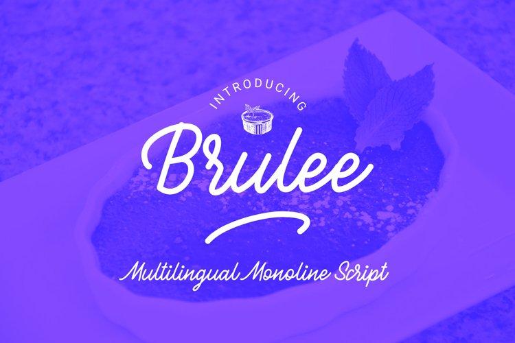 Brulee monoline font example image 1