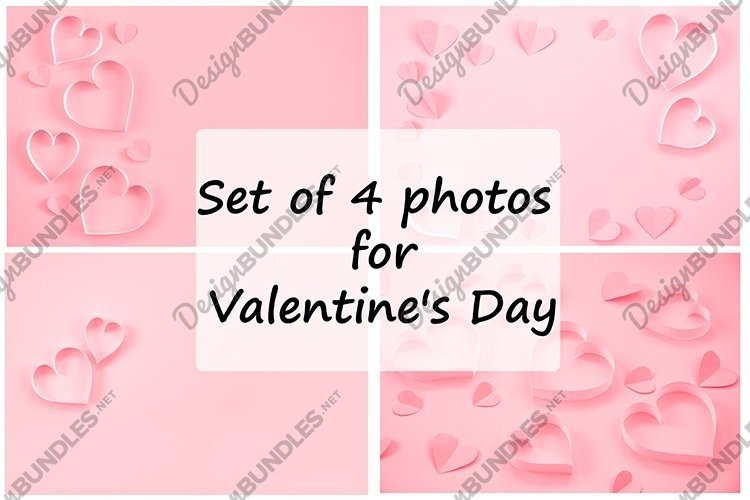 Set of 4 photos for Valentine's Day. example image 1