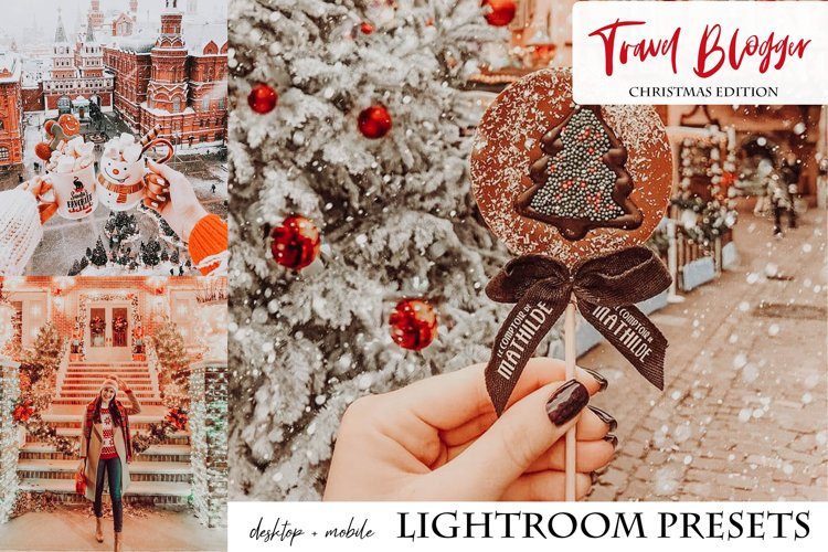 Travel Blogger Christmas Edition Lightroom Presets example image 1