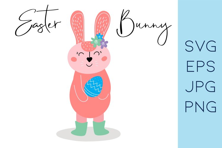Easter bunny SVG |Rabbit clipart|Bunny and egg example image 1