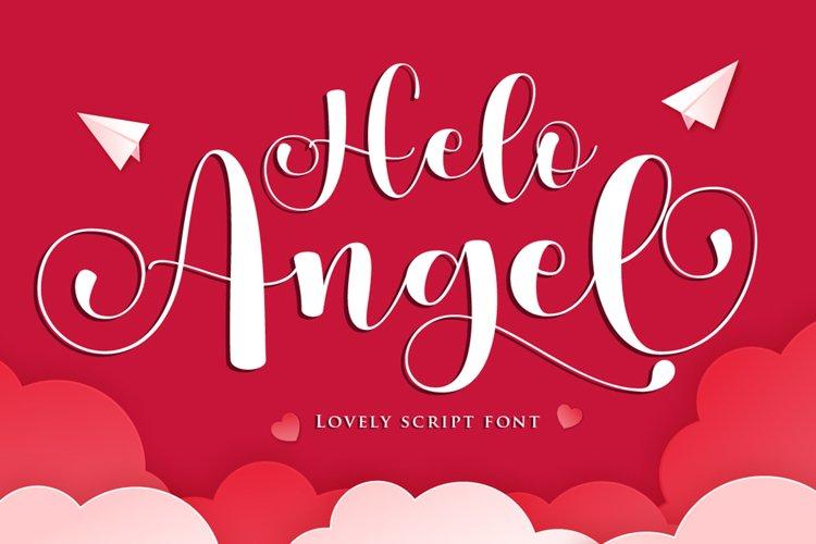 Helo Angel - A Lovely Script Fonts