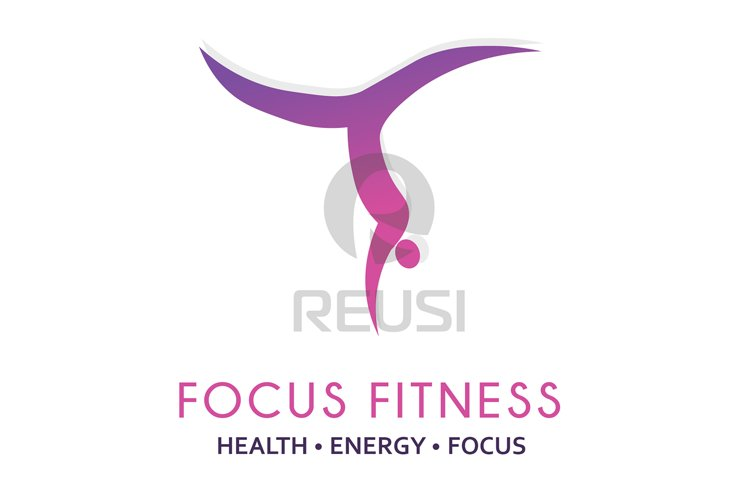 Focus Fitness Logo Template example image 1