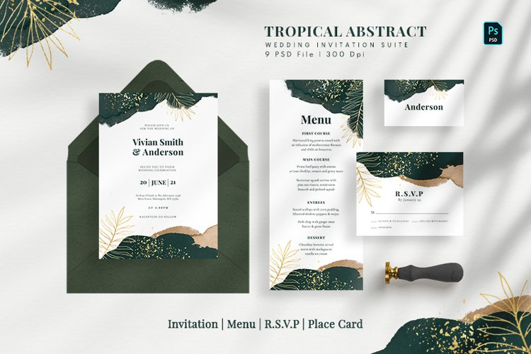 Tropical Abstract Wedding Suite example image 1