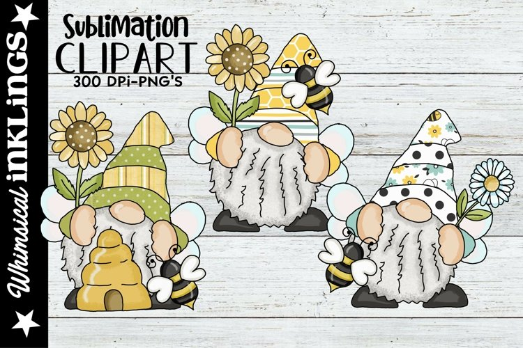 Bumble Bee Wings Gnomes Sublimation Set example image 1