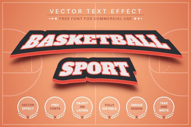 Basketball - editable text effect, font style