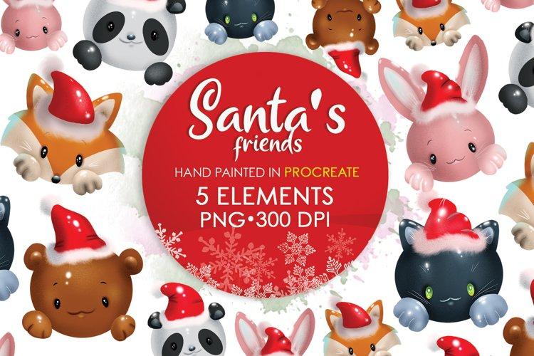 Christmas Png, Christmas Animals, Animal Clipart, Bear Png example image 1