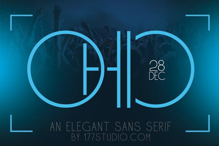 Ohio - Futuristic Sans Serif Font example image 1