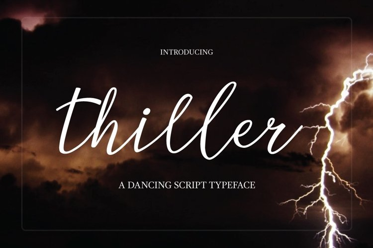 Web Font Thiller Typeface example image 1