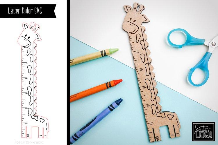 Laser Giraffe Ruler SVG example image 1