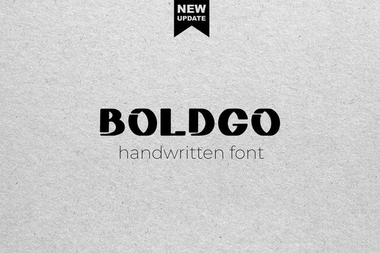 BOLDGO - font