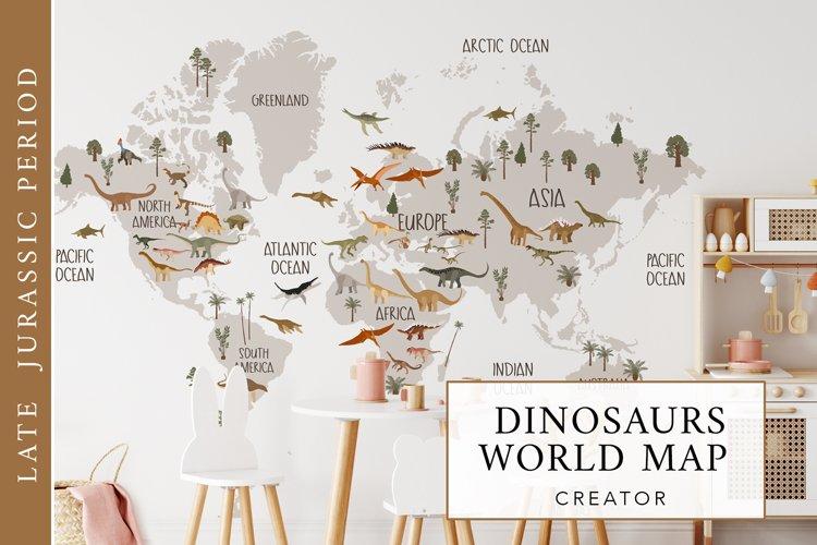 Dinosaurs world map creator