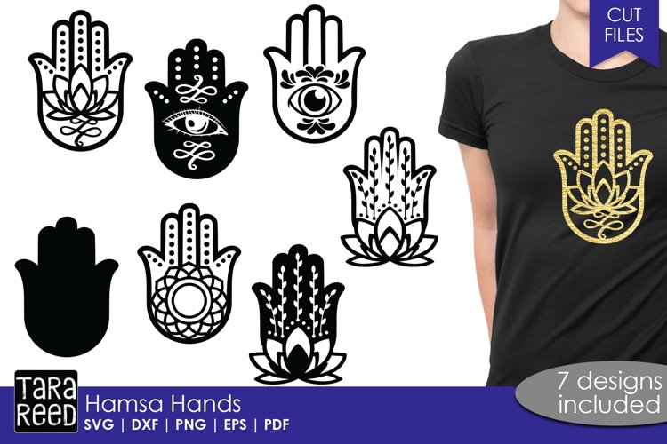 Hamsa Hands - SVG and Cut Files for Crafters