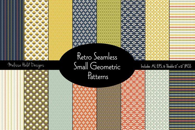 Retro Seamless Small Geometric Patterns