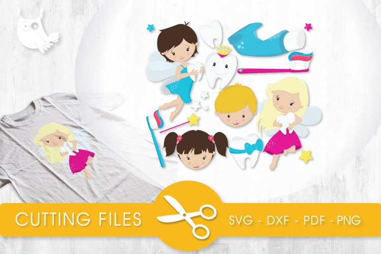 Tooth Fairy Set cutting files svg, dxf, pdf, eps included - cut files for cricut and silhouette - Cutting Files SG example image 1