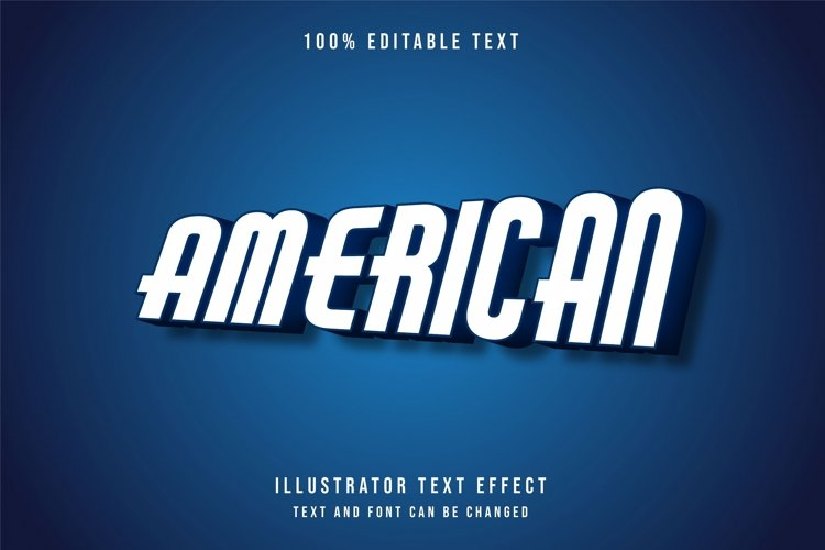 American - Text Effect