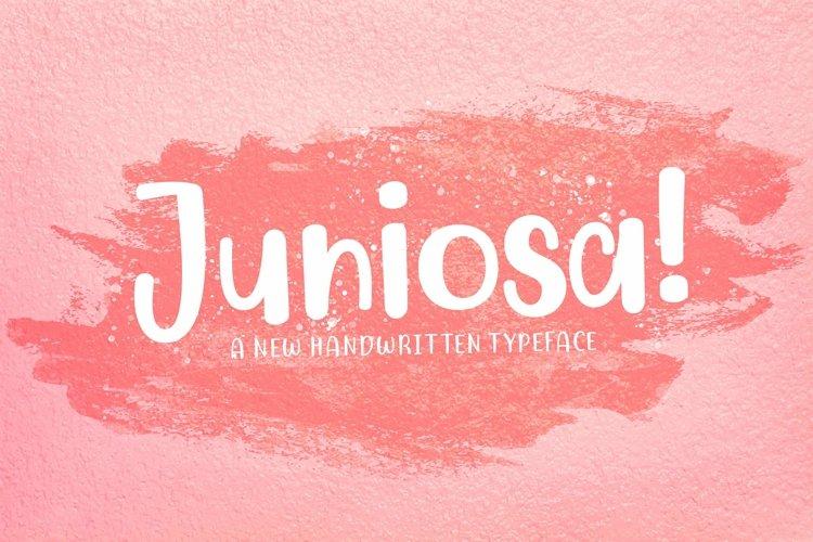 Web Font Juniosa example image 1