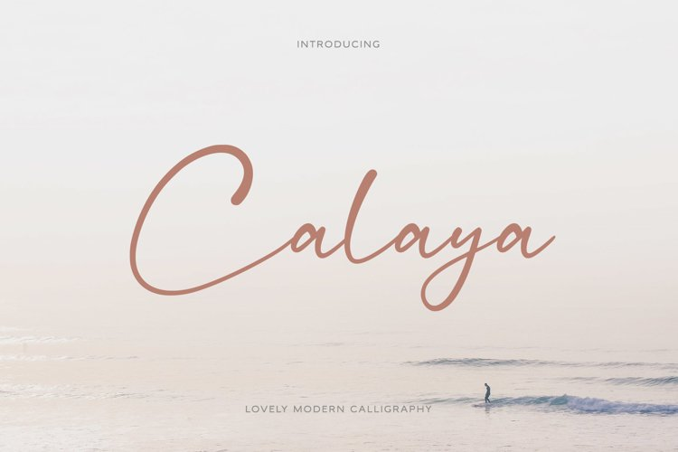 Calaya - Lovely Modern Script example image 1