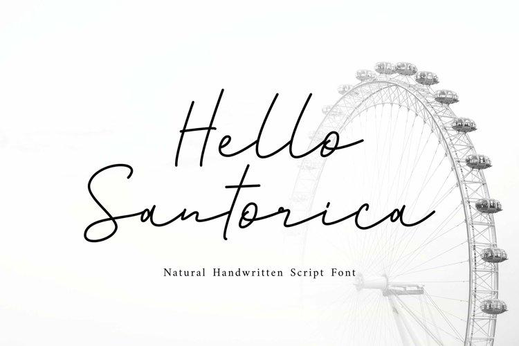 Web Font Santorica - Script Font example image 1