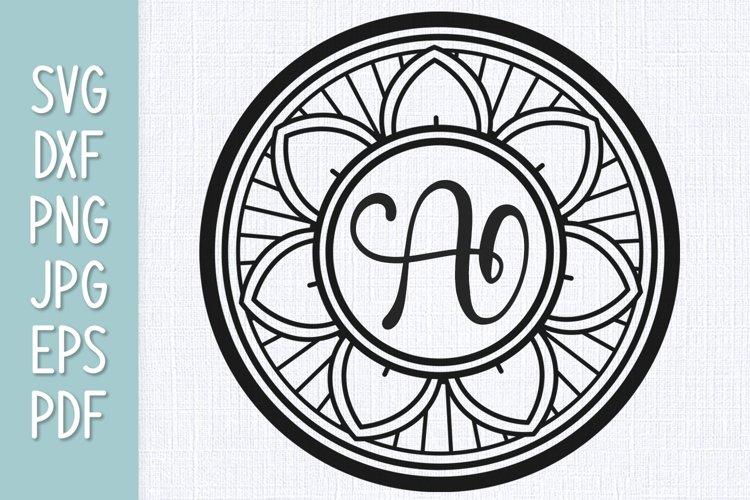 Mandala Monogram SVG example image 1