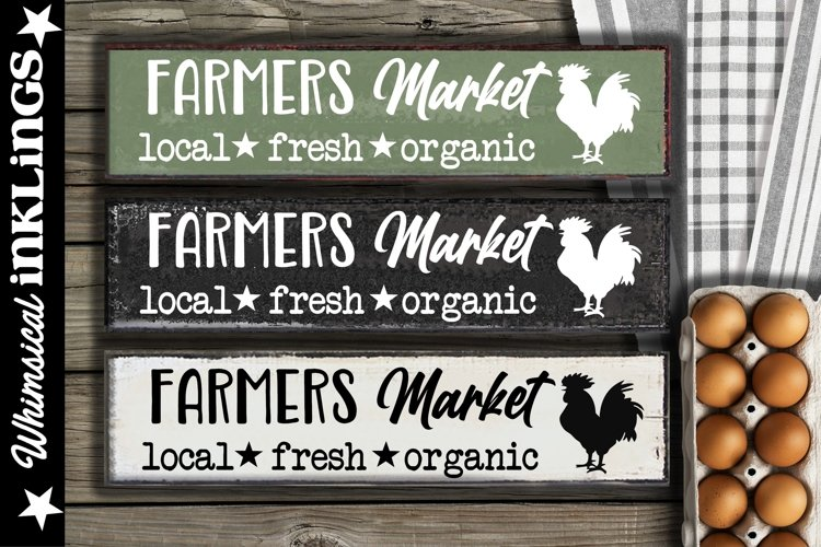 Farmers Market-Rooster SVG example image 1