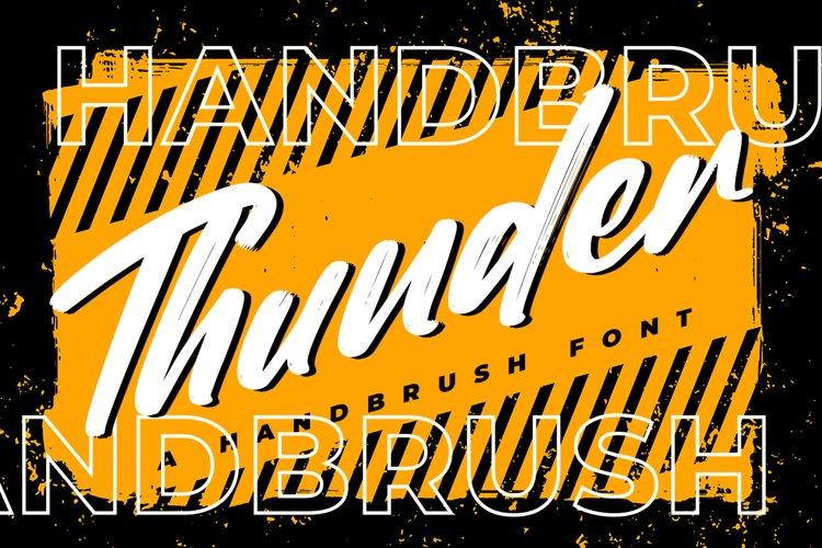 Thunder - Brush Font example image 1