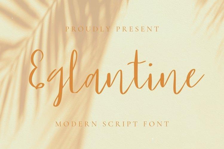 Web Font Eglantine Font example image 1