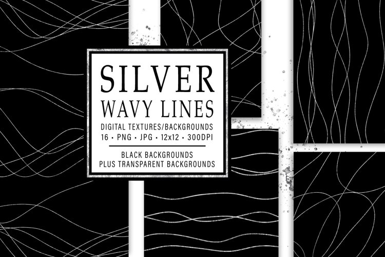 Silver Wavy Lines example image 1