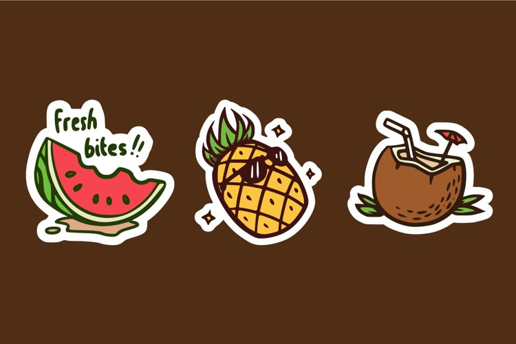 Fruit Sticker Collection example image 1