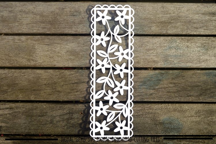 Bookmark paper cut SVG / DXF / EPS files example image 1