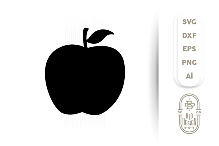 Apple SVG Cut File - Apple silhouette