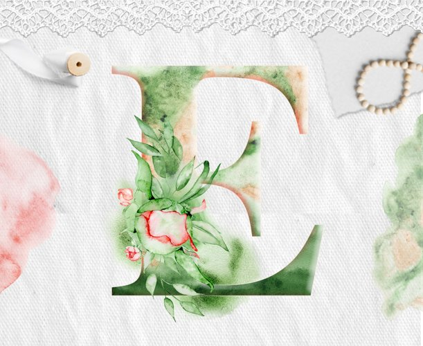 Alphabet Watercolor Clipart - Free Design of The Week Design4