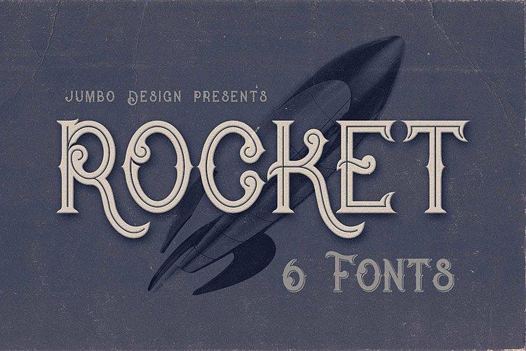 Rocket- Vintage Style Font example image 1